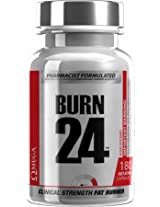 Omega Sports Burn24 Clinical Strength Fat Burner 180 Fast Acting Capsules