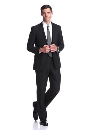 Nicole Miller Men's Tonal Stripe Suit (Black)