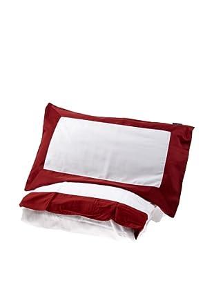 Lexington Company Juego Funda Nórdica Borde (Blanco / Rojo)