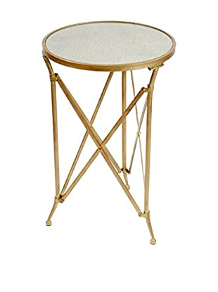 Winward Mercury Mirror Top Table, Antique Gold