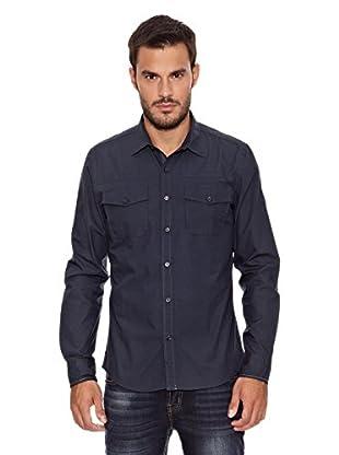 Paul Stragas Camisa Hombre Covington (Azul Oscuro)