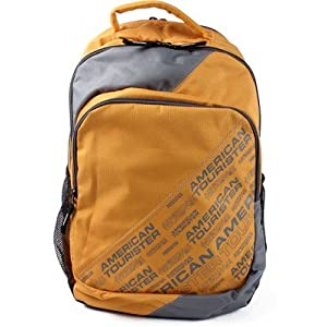 American Tourister Code 12 Yellow Casual Backpack