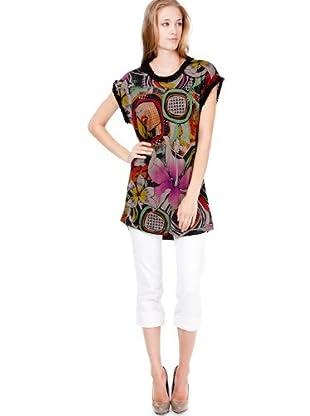 Custo Barcelona Damen Kleid (knielang) 2394003 (Mehrfarbig (Multicolor))