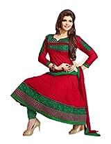 Vaamsi Womens Cotton Anarkali Salwar Suit Set (Saj7002 _Red _Free Size)