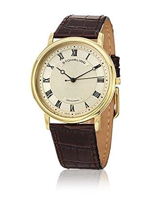 Stührling Uhr mit Schweizer Quarzuhrwerk Classique 645 braun 38 mm
