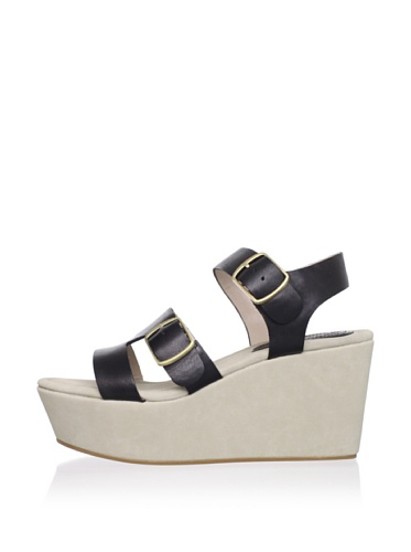 Rosegold Women's Ali Wedge Sandal (Black)