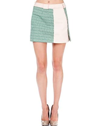 Custo Mini Falda Horizont Leanau (Verde / Blanco)