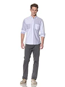 Shades of Grey by Micah Cohen Men's Multi-Panel Shirt (Sky Blue)