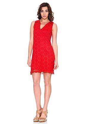 Pedro del Hierro Vestido Crochet (Rojo)