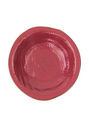 Novità Home Set Plato Hondo 4 Piezas Color Cereza