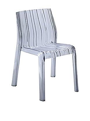 Manhattan Living Stripe Dining Chair, Clear