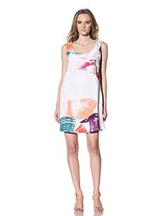 Chloé Women's Scoop Neck Watercolor Print Dress (White)