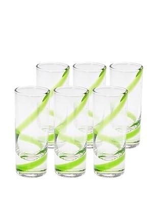 Set of 6 Playa Shot Glasses