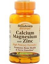 Sundown Naturals Calcium, Magnesium and Zinc Supplement, 100 Tablets