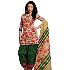 Sweety Women's Cotton Dress Material (Multi_Free Size)