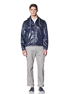 Perry Ellis Men's Solid Windbreaker (Ink)