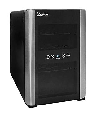 Vinotemp 12-Bottle Thermoelectric Wine Cellar (iCellar), Black/Silver/Chrome