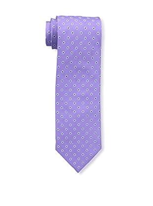Bruno Piattelli Men's Dot Silk Tie, Lilac