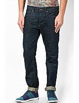 Dark Blue Regular Fit Jeans (Mike) Jack & Jones