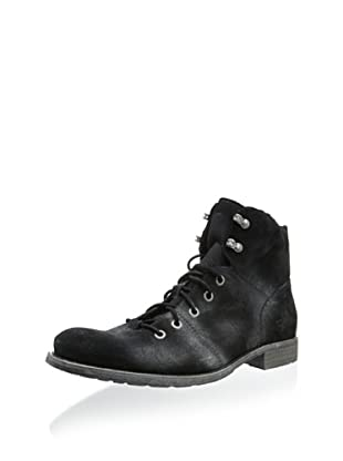 Andrew Marc Men's Gotham Lace-Up Boot (Black)