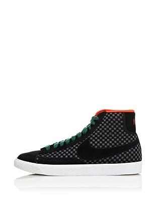 Nike Zapatillas Blazer Mid Woven (Negro)