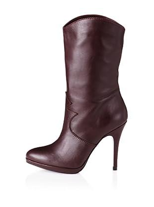 Paul & Joe Women's Patti Western Seam Mid Boot (Maroon)