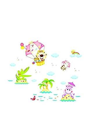 LO+DEMODA Wandtattoo Happy Animal Islands