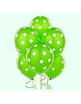 Tiger 50149 Polka Dot Large Balloon Green (Pack of 30)
