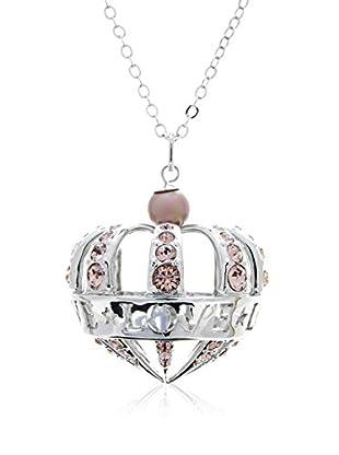 Misaki Conjunto de cadena y colgante Majestic Love plata de ley 925 milésimas rodiada