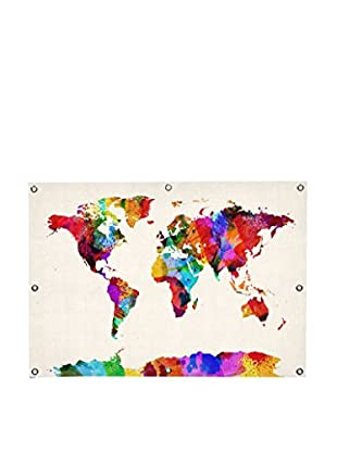 Michael Tompsett Map Of The World (Abstract Painting) II Canvas Wall Mural