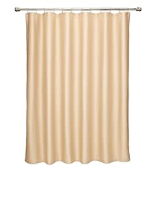 Terrisol Matelassé Ottoman Ribbed Shower Curtain (Oat)