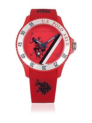 U.S. POLO ASSN. Uhr mit japanischem Quarzuhrwerk Cooper rot 44 mm