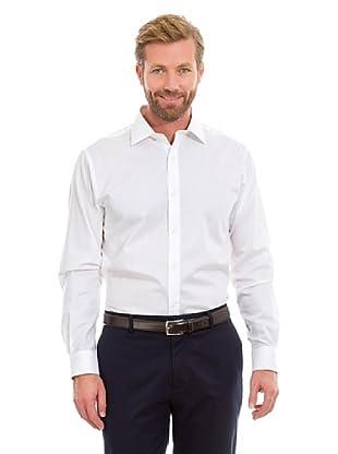 Cortefiel Camisa Cuadro (Blanco)