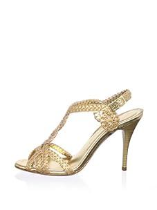 STEPHANE KELIAN Women's Oasis T-Strap Sandal (Platine)