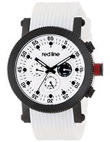 red line Men's RL-18101-02-BB-WHT-ST-SET Compressor White Dial White Silicone Watch Set