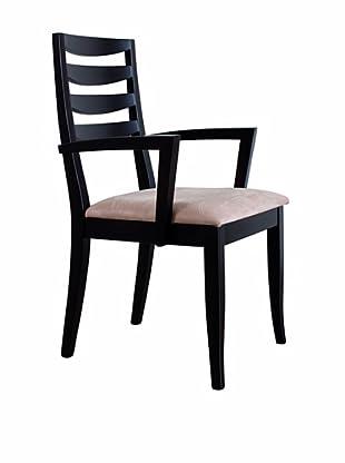 Urban Spaces Manhattan Arm Chair, Walnut