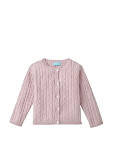 Bambeeno Girl's Cozy Cable Cardigan (Light Pink)