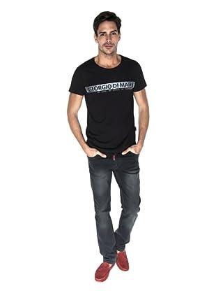 Giorgio Di Mare Camiseta Quentino (Negro)