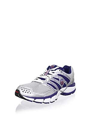 K-SWISS Men's Keahou II Running Shoe (Silver/Blueprint/Red)