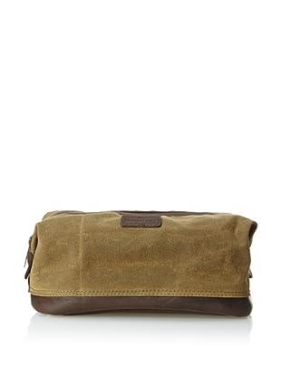 The British Belt Company Men's Oxburgh Dopp Kit (Olive)