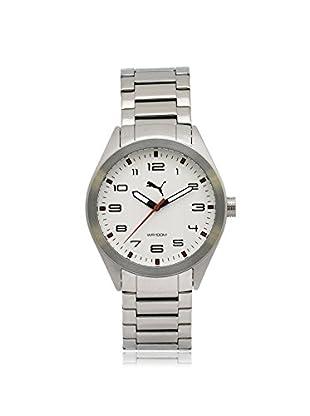 Puma Men's PU103321001 Silver/White Stainless Steel Watch