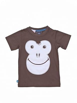 adidas Camiseta Monkey (Marrón / Blanco)