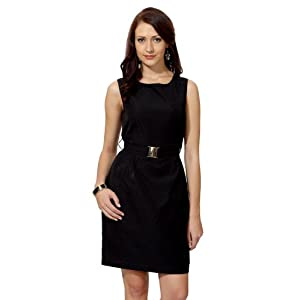 Van Heusen Stylized Neck Evening Dress