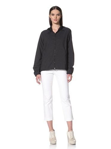 JIL SANDER NAVY Women's Printed Hooded Jacket (Navy)