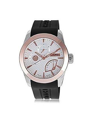 Haurex Men's 3R501USN Magister Black/Silver Silicone Watch