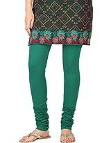 Stop Women's Knit Churidar (4595670-Green-Small)