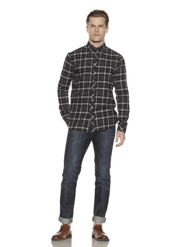 Cohesive Men's Empire Button-Front Shirt (Black)