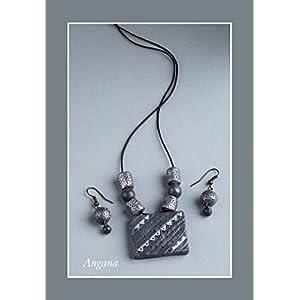 Angana Ash & Silver Set jewellery Set