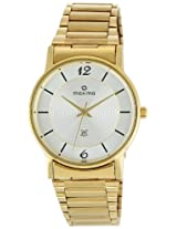 Maxima Gold Analog Silver Dial Men's Watch - 10731CMGY