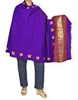 Tribal Shawl For Women - Woolen Embroidered Handmade Indian 84x36 Inches